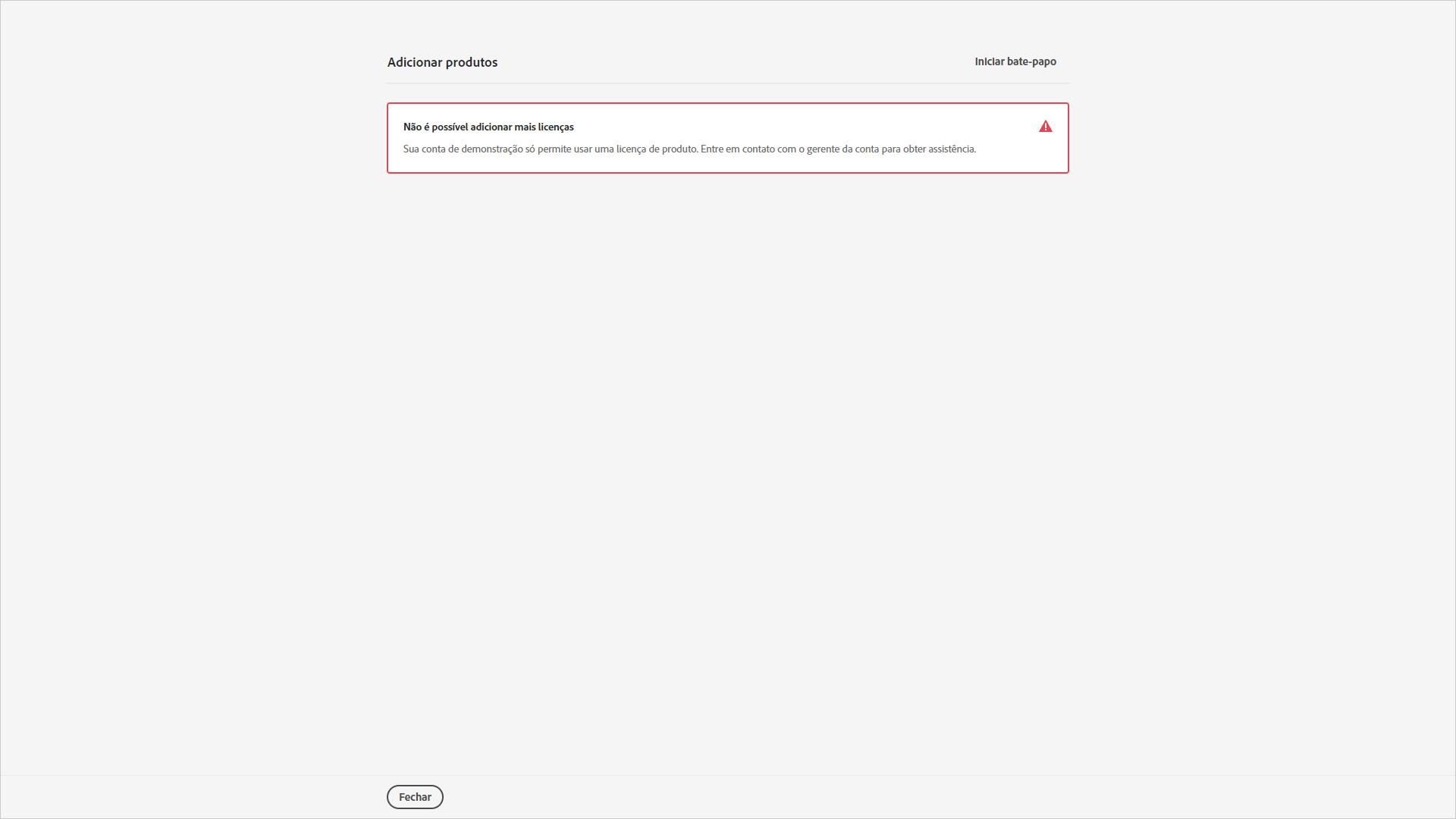 Gestão de licenças Adobe: Adobe Admin Console