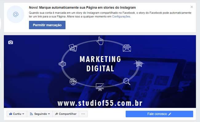 Facebook: Capa de Fanpage Responsiva no Desktop- ENG
