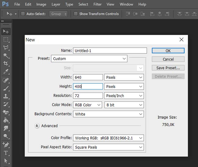 Photoshop: Dimensionamento de Capa de Fanpage para Smartphone - ENG