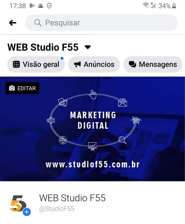 Facebook: Capa de Fanpage Responsiva no Smartphone- ENG