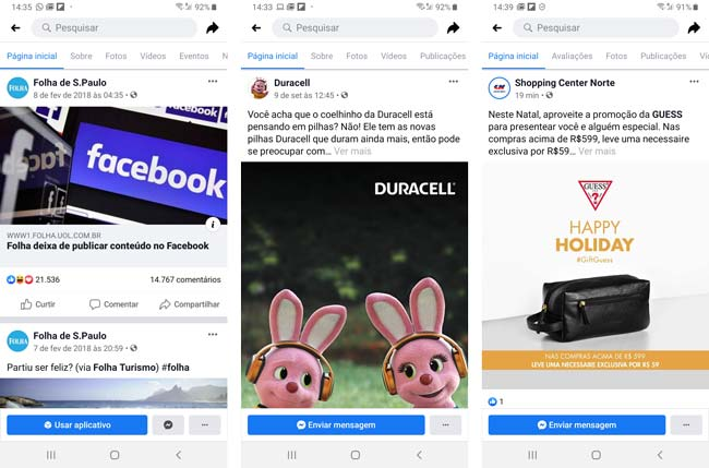 Facebook: Fotos de Perfil de 3 empresas conhecidas - ENG