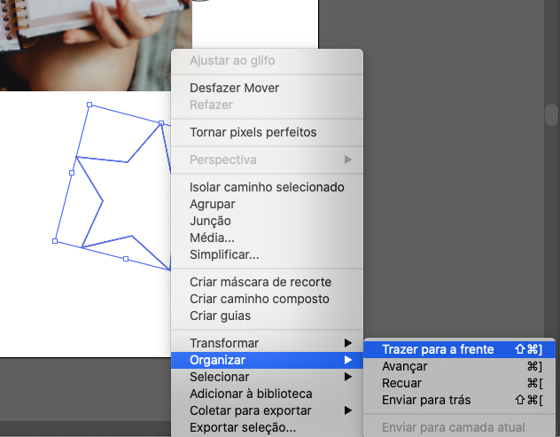 Adicionando imagens dentro de formas no Adobe Illustrator
