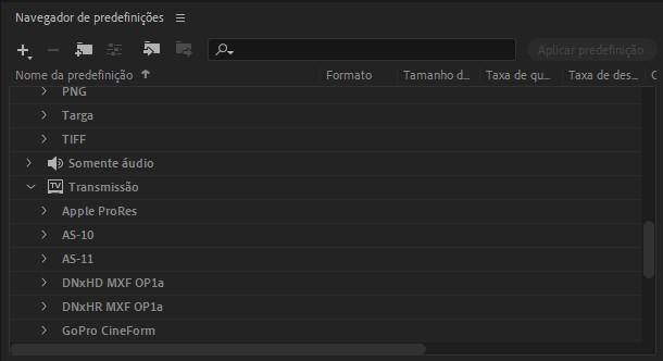 navegador-de-predefinicoes-media-encoder-eng-dtp-multimidia
