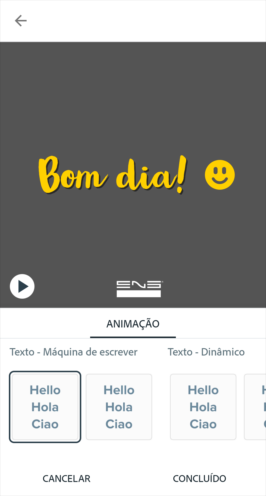 opcao-animacao-adobe-spark-post-eng-dtp-multimidia