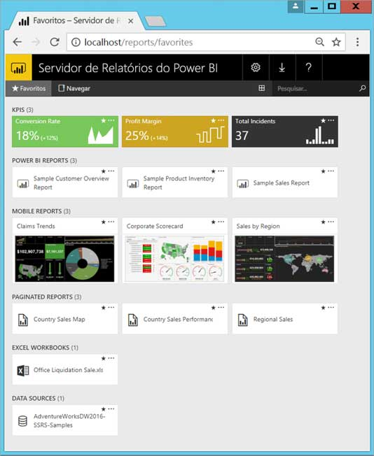 Power Bi - Report Server Internet - ENG DTP & Multimídia