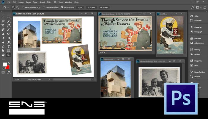 Recorte e junte várias imagens de uma só vez no Adobe Photoshop CC
