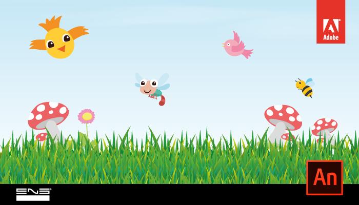 Animar pássaros em movimento
