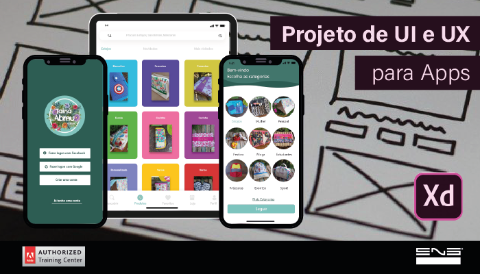 Projeto de UI/UX para Apps