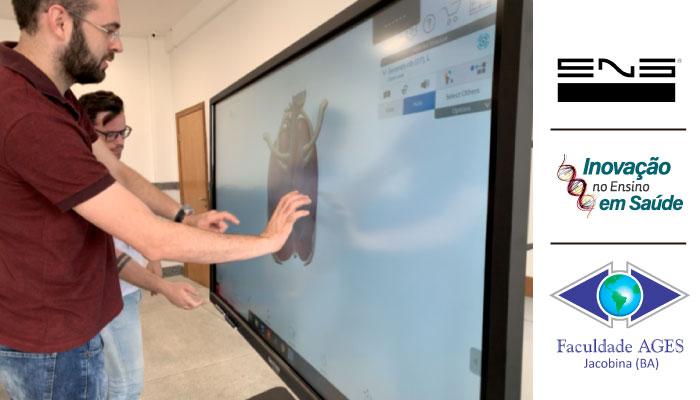 Tela de Anatomia Digital na UniAges em Jacobina-BA