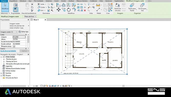 Como inserir e redimensionar uma imagem em escala no Revit