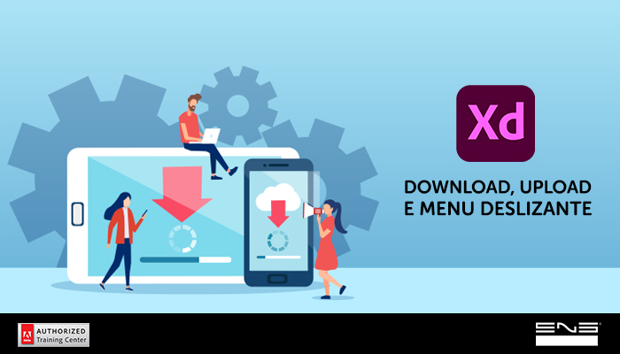 Criação de botões animados no Xd: Ícone de Download, Upload e Menu deslizante